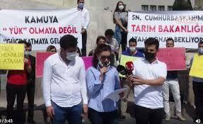 Atama bekleyen ziraat mühendisleri ve veteriner hekimler Ankara'da eylem yaptı!